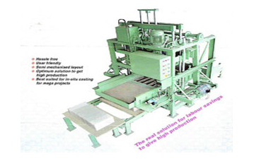stationary type conrete block making machines